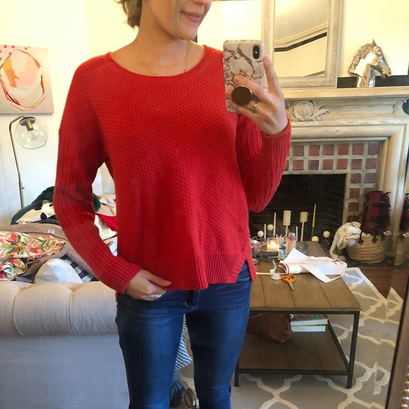 Madewell Sweaters - Red Madewell sweater. Size medium.